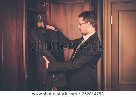 Man pak garderobe business Stockfoto © Nejron