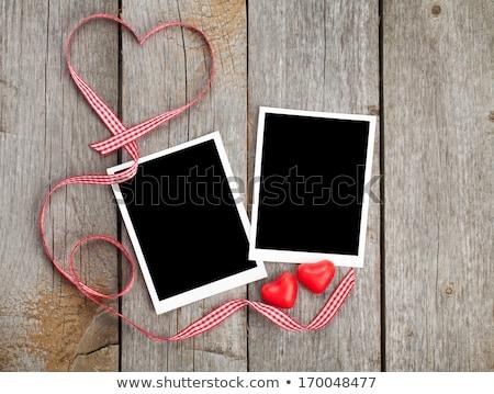 Dos foto marcos día de san valentín tarjetas Foto stock © marimorena