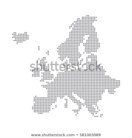 Harita kıta Avrupa nokta model vektör Stok fotoğraf © Istanbul2009