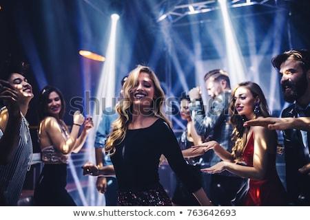 Piste de danse séduisant dame musique Photo stock © konradbak
