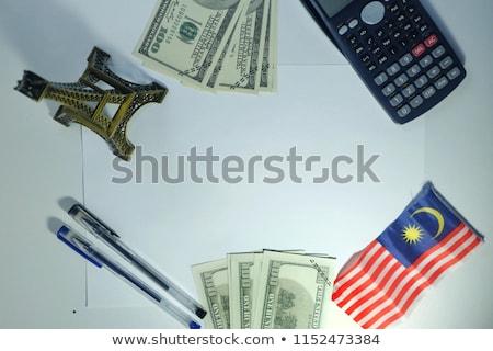 USA Malajzia miniatűr zászlók izolált fehér Stock fotó © tashatuvango