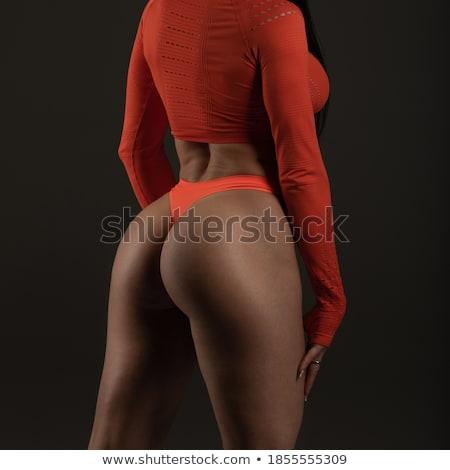 Portret fitness vrouwelijke zitvlak zwarte Stockfoto © deandrobot
