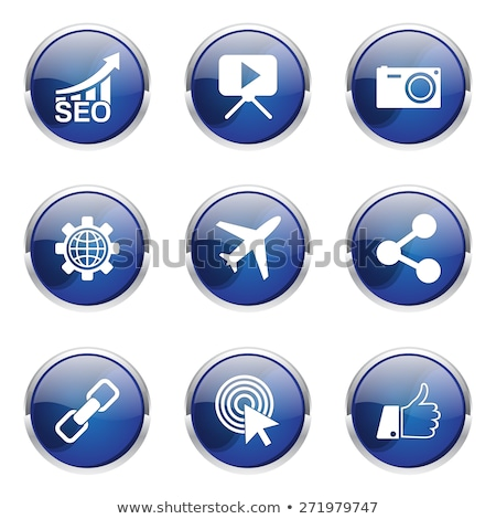 seo internet sign blue vector button icon design set 1 stock photo © rizwanali3d