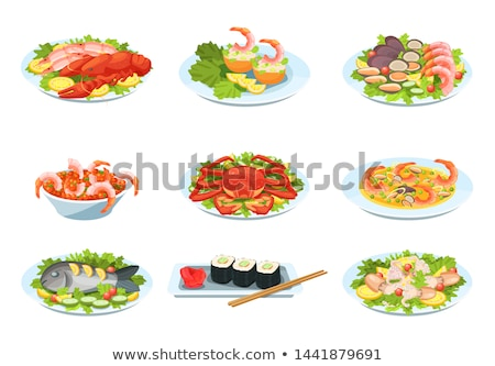 rolls with fish and vegetables stock photo © 1986design