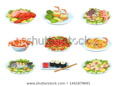 рыбы овощей весны риса бумаги Сток-фото © 1986design