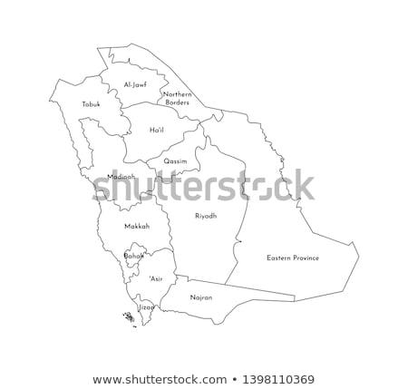 map of saudi arabia the region eastern province stock photo © istanbul2009