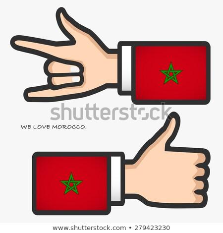 Марокко флаг рубашку деловой человек человека Сток-фото © fuzzbones0