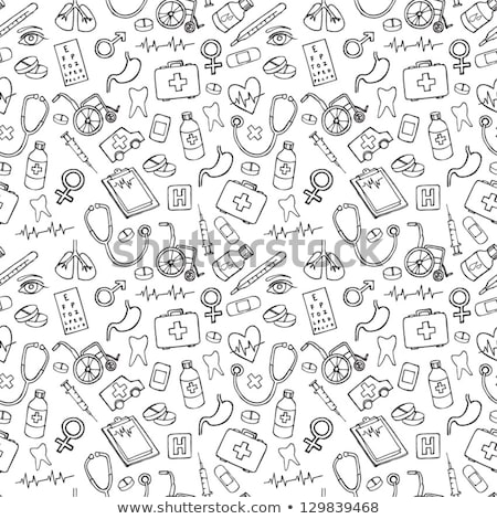 health care and medicine doodle stock photo © netkov1