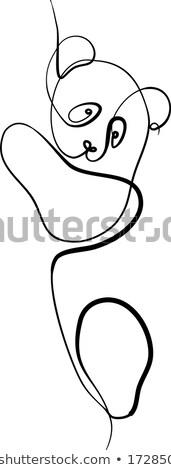 doodle save panda concept Stock photo © netkov1