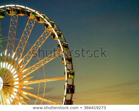 Detail And Structure of Ferris Wheel with Blue Sky Stock photo © user_9323633
