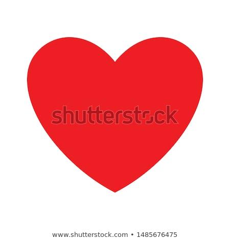 Czerwony serca kardiogram odizolowany biały miłości Zdjęcia stock © tetkoren
