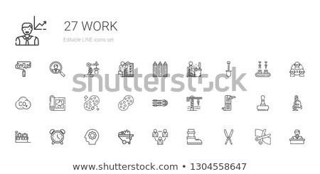 Negócio habilidades diagrama engrenagens industrial projeto Foto stock © tashatuvango