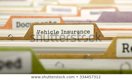 Vehicle Insurance Concept. Folders in Catalog. Stock photo © tashatuvango