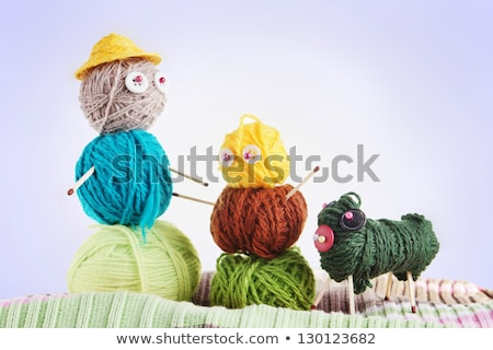 3 dogs playing with toy embroidery Stock photo © adamfaheydesigns