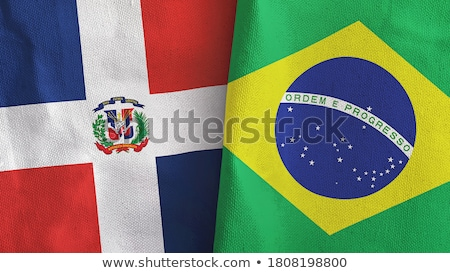 Brazil and Dominican Republic Flags Stock photo © Istanbul2009