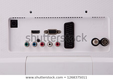 vintage audio components and computer monitor stock photo © feverpitch