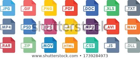 Kép akta formátum ikon terv Stock fotó © kiddaikiddee