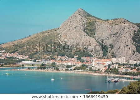 The picturesque panorama of the Adriatic coast near the town Sve Stock photo © vlad_star