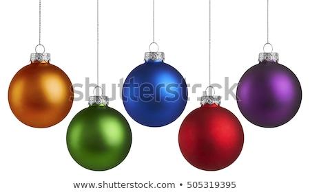 紫色 クリスマス ボール 孤立した 白 色 ストックフォト © plasticrobot