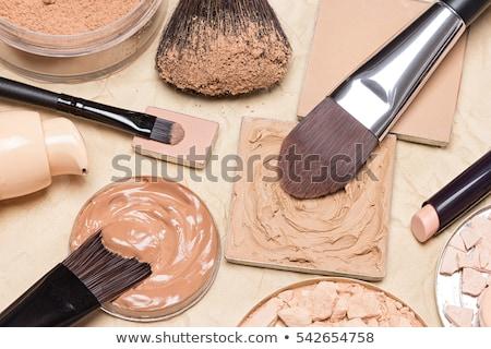liquide · beige · composent · fondation · blanche · femmes - photo stock © neirfy