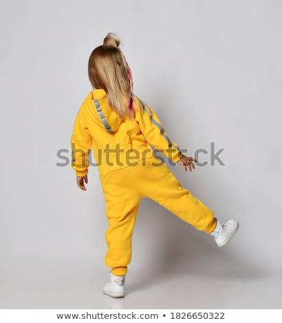 Piękna dziewczyna szary piękna aktywny młoda kobieta odizolowany Zdjęcia stock © svetography