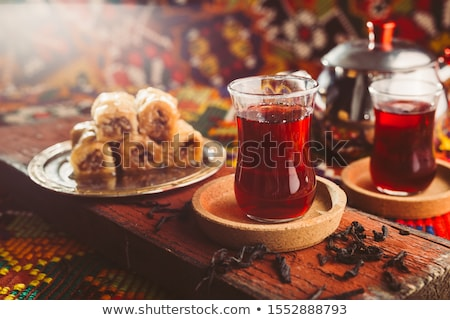 traditional turkish glasses for tea stock photo © dariazu