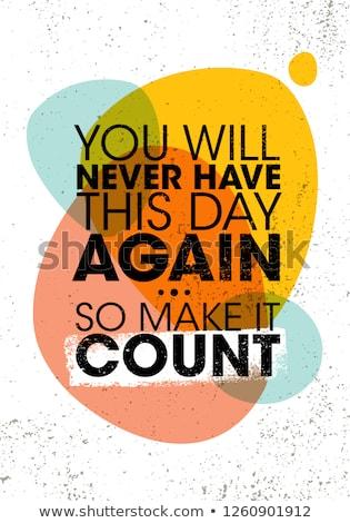 Motivációs idézet poszter sikeres absztrakt terv Stock fotó © maxmitzu
