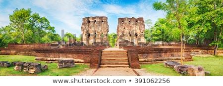 Ruínas velho palácio Sri Lanka Foto stock © meinzahn