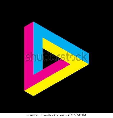 üçgen · logo · sanat · iş · imzalamak - stok fotoğraf © vector1st