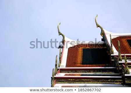 Buddhista templom közelkép gyönyörű nyár kastély Stock fotó © ssuaphoto