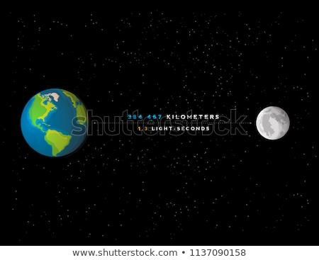 сцена спутниковой поверхность земле иллюстрация пейзаж Сток-фото © bluering