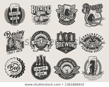 Octoberfest beer retro vintage badge, logo, emblem, label. Vector illustration. Beer festival. Germa Stock photo © khabarushka