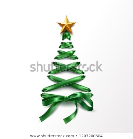 Choinka zielone koronki proste wektora ciąg Zdjęcia stock © orson