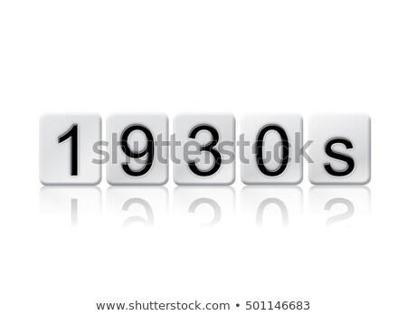 1930 isolado azulejos cartas palavra escrito Foto stock © enterlinedesign