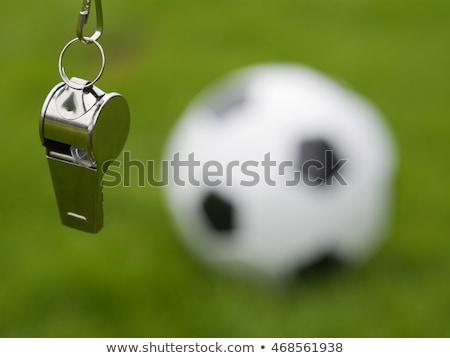 Futebol futebol assobiar esportes futebol Foto stock © dolgachov