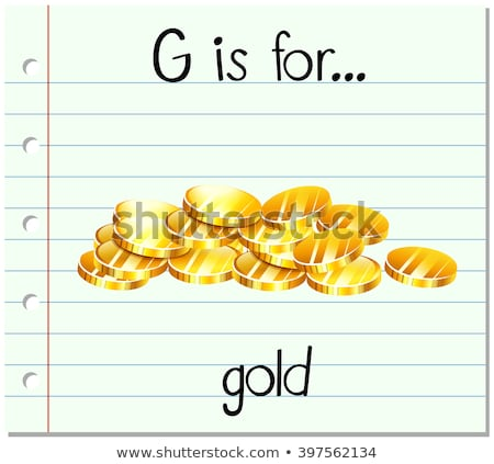 Flashcard letter G is for gold Stock photo © bluering