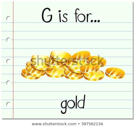 g · betű · illusztráció · oktatás · levél · tanul · kapu - stock fotó © bluering