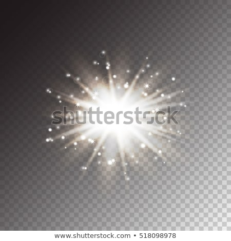 White glowing light burst effect. EPS 10 Stock photo © beholdereye