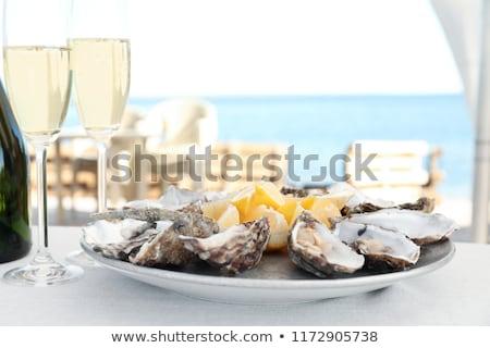 Fresco ostra limão prato ilustração comida Foto stock © bluering