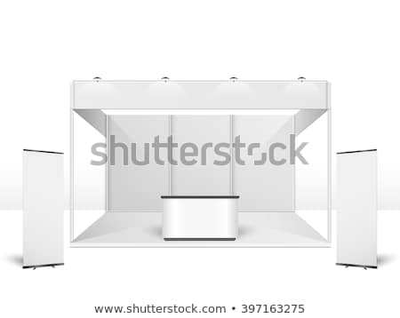 Simple Exhibition Stand Vector : Vector exhibition stand illustration andrei