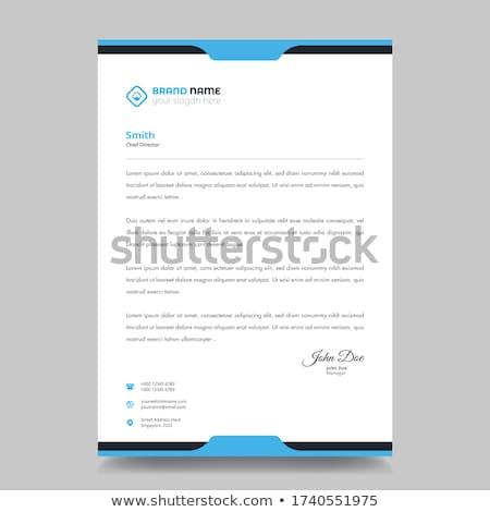 Kreative modernen Briefkopf Vorlage abstrakten Formen Stock foto © SArts