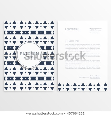 抽象的な スタイル レターヘッド テンプレート ビジネス 会社 ストックフォト © SArts