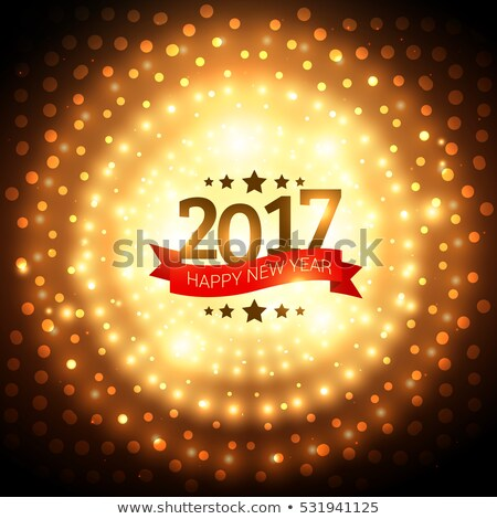 2017 golden party background with glowing effect Foto stock © SArts