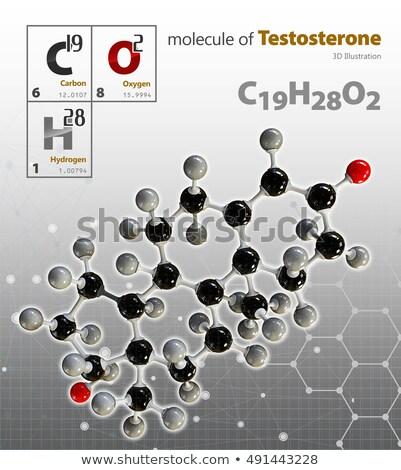 Illustratie testosteron geïsoleerd grijs 3d illustration technologie Stockfoto © tussik
