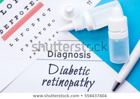 Diabetic retinopathy background Stock photo © Tefi