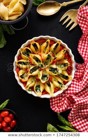 macarrão · mediterrânico · legumes · bebê · comida · borrão - foto stock © monkey_business