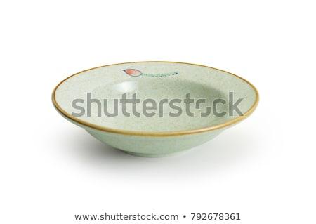 Glazed ceramic soup plate Stock photo © Digifoodstock