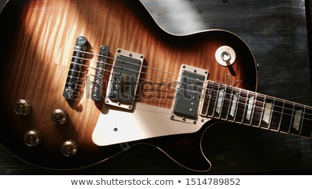 гитарист · играет · электрической · гитаре · избирательный · подход · фото - Сток-фото © hamik