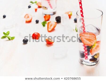 Rojo albañil vidrio blanco stock foto Foto stock © punsayaporn