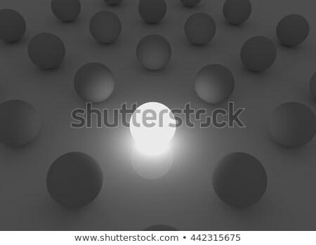 Abstract spheres in the darkness illuminated with one light sphe Stock photo © tuulijumala